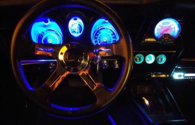Blå diodelys i 73er det ser vildt ud på billeder men i virkeligheden er det rigtig flot dæmpet lys